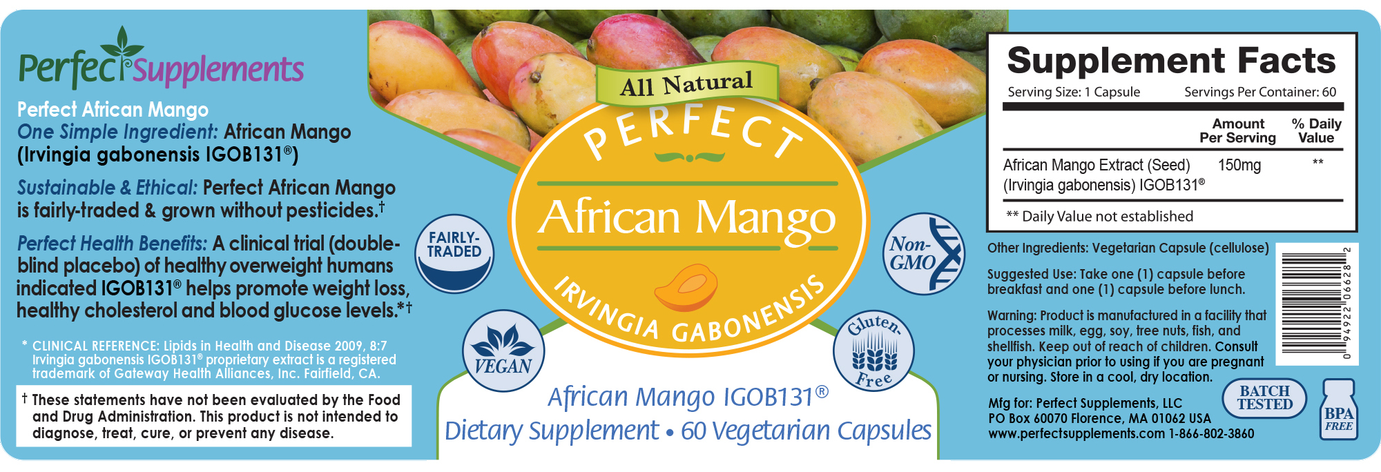 Perfect African Mango 100 Pure And Clinically Proven African